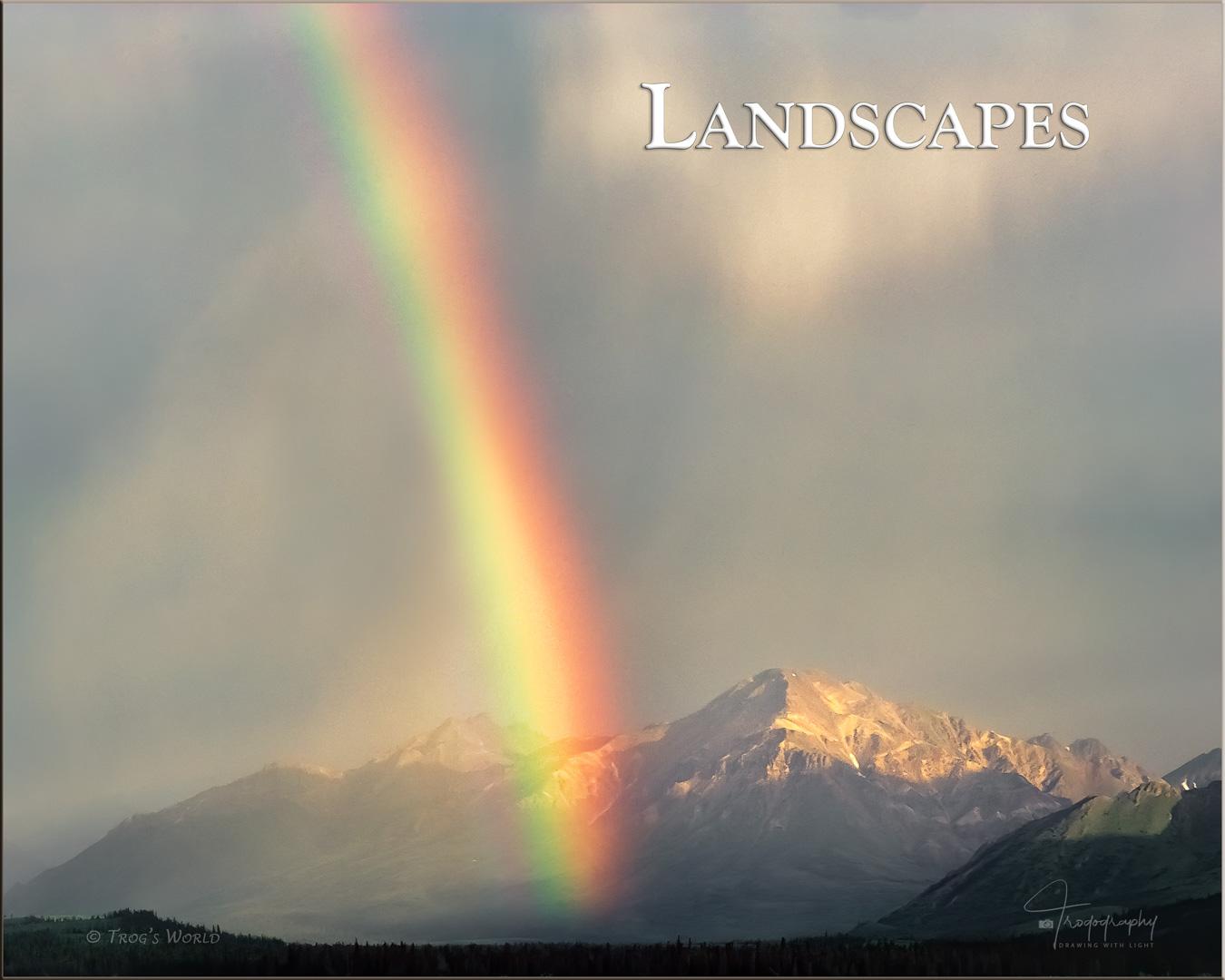Rainbow in Teklanika River, Denali Alaska