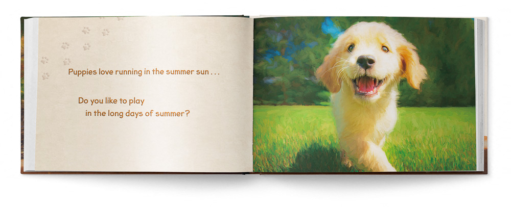 Puppies Love Children's Book featuring Trog's Dogs - Pages 04 and 05