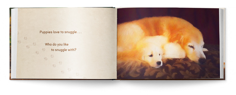 Puppies Love Children's Book featuring Trog's Dogs - Pages 08 and 09