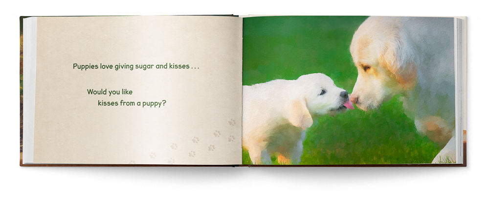 Puppies Love Children's Book featuring Trog's Dogs - Pages 14-15