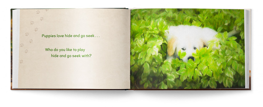 Puppies Love Children's Book featuring Trog's Dogs - Pages 18 and 19