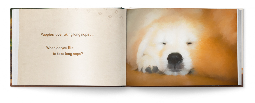 Puppies Love Children's Book featuring Trog's Dogs - Pages 20 and 21
