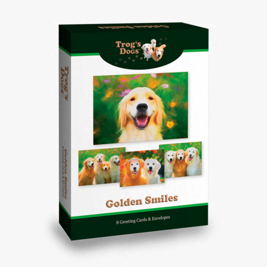 Trog's Dogs Golden Smiles Greeting Cards